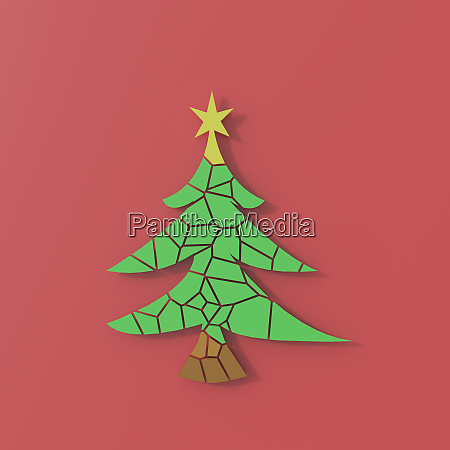 3d rendering chrismas tree puzzle on