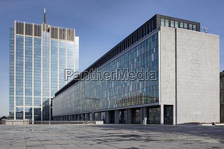 belgium brussels place du congres modern