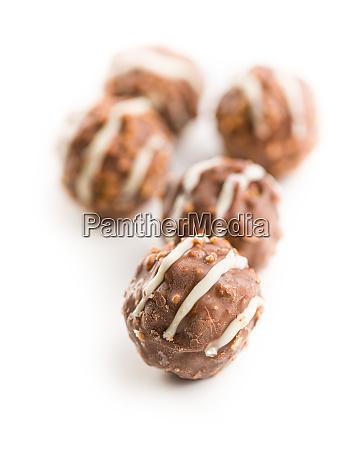 sweet chocolate truffles chocolate balls