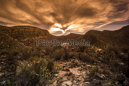 south africa cape town landscape at