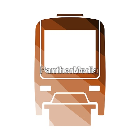 monorail icon front view