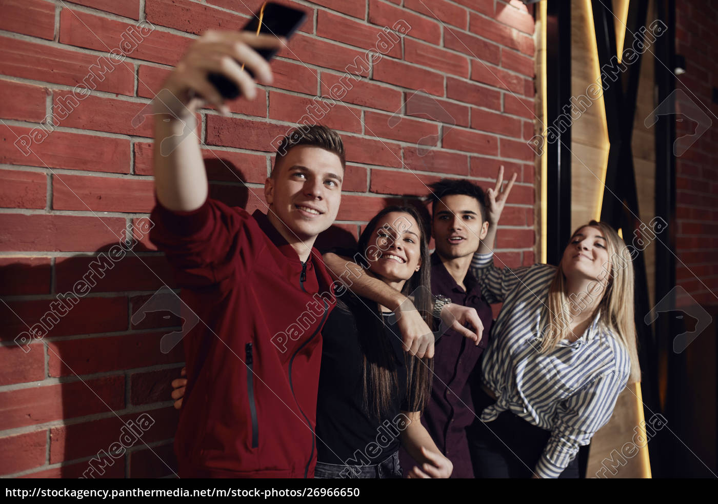 happy, friends, taking, a, selfie, with - 26966650