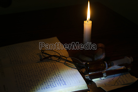 reflections and medittions by candlelight