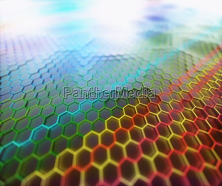 graphene structural background design concept