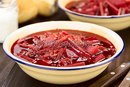 vegetarian borscht beetroot soup