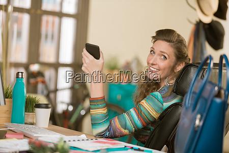 stylish woman using her phone