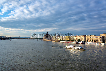 danube river and budapest cityscape