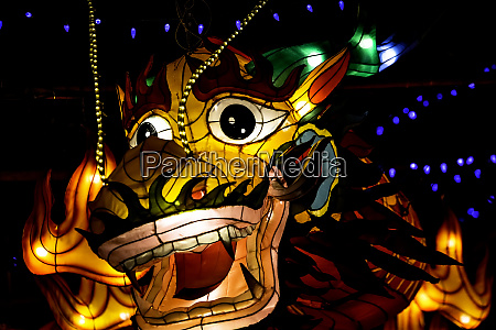 illuminated asian dragon