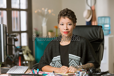 stylish woman in a creative office