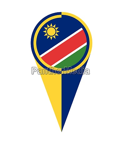 namibia map pointer location flag