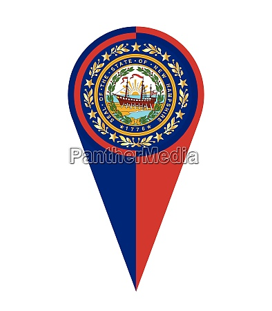 new hampshire map pointer location flag