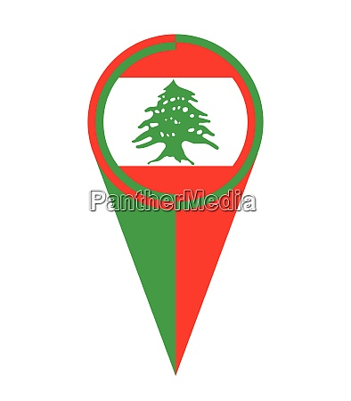 lebanon map pointer location flag