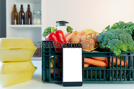 food delivery service smartphone in