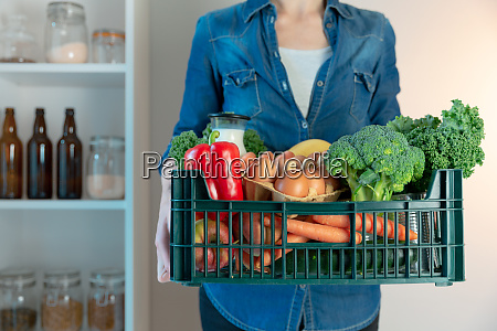 food delivery service woman with
