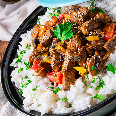 tajin beef stew with rice paprika