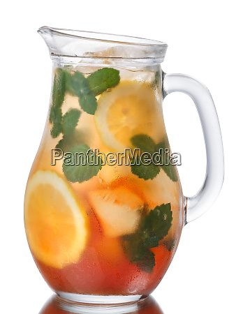 iced lemon mint tea pitcher paths