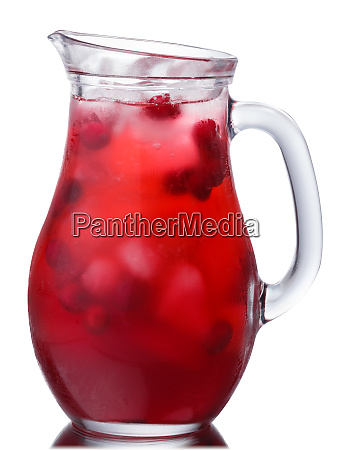 iced cranberry drink pitcher paths