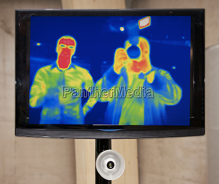 infrared television display