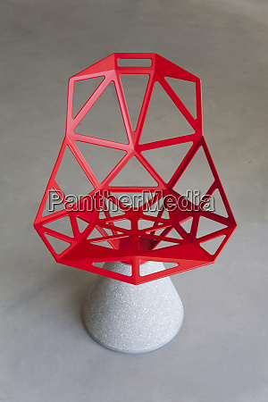 abstractly designed chair