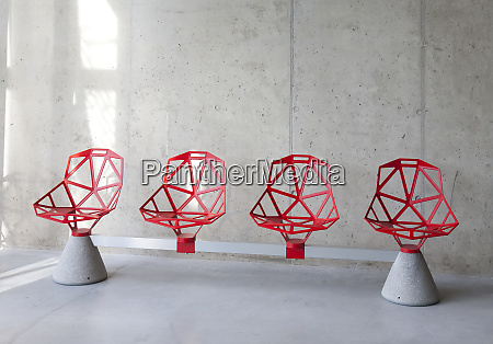 abstractly designed chairs