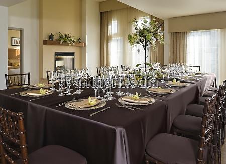 elegant dining setting