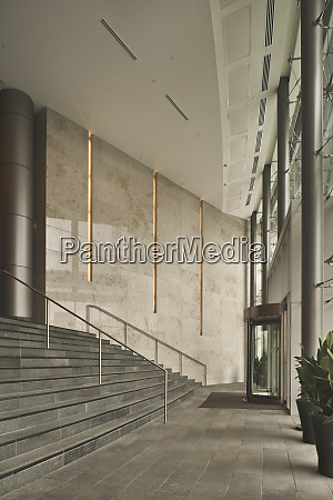 building entrance stairs