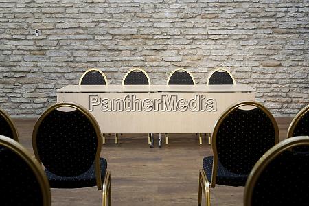 auditorium with brick walls