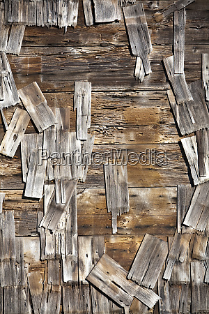 old wood shingles on building mendocino