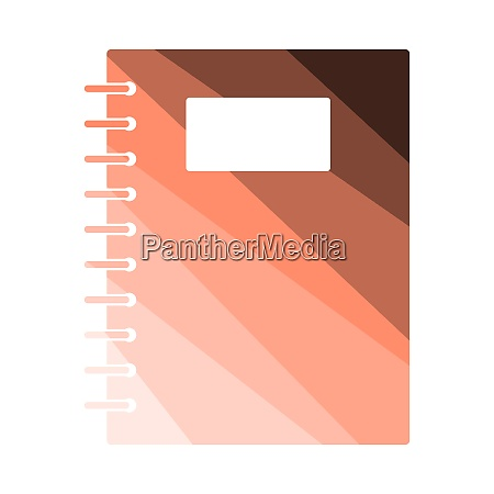 exercise book with pen icon