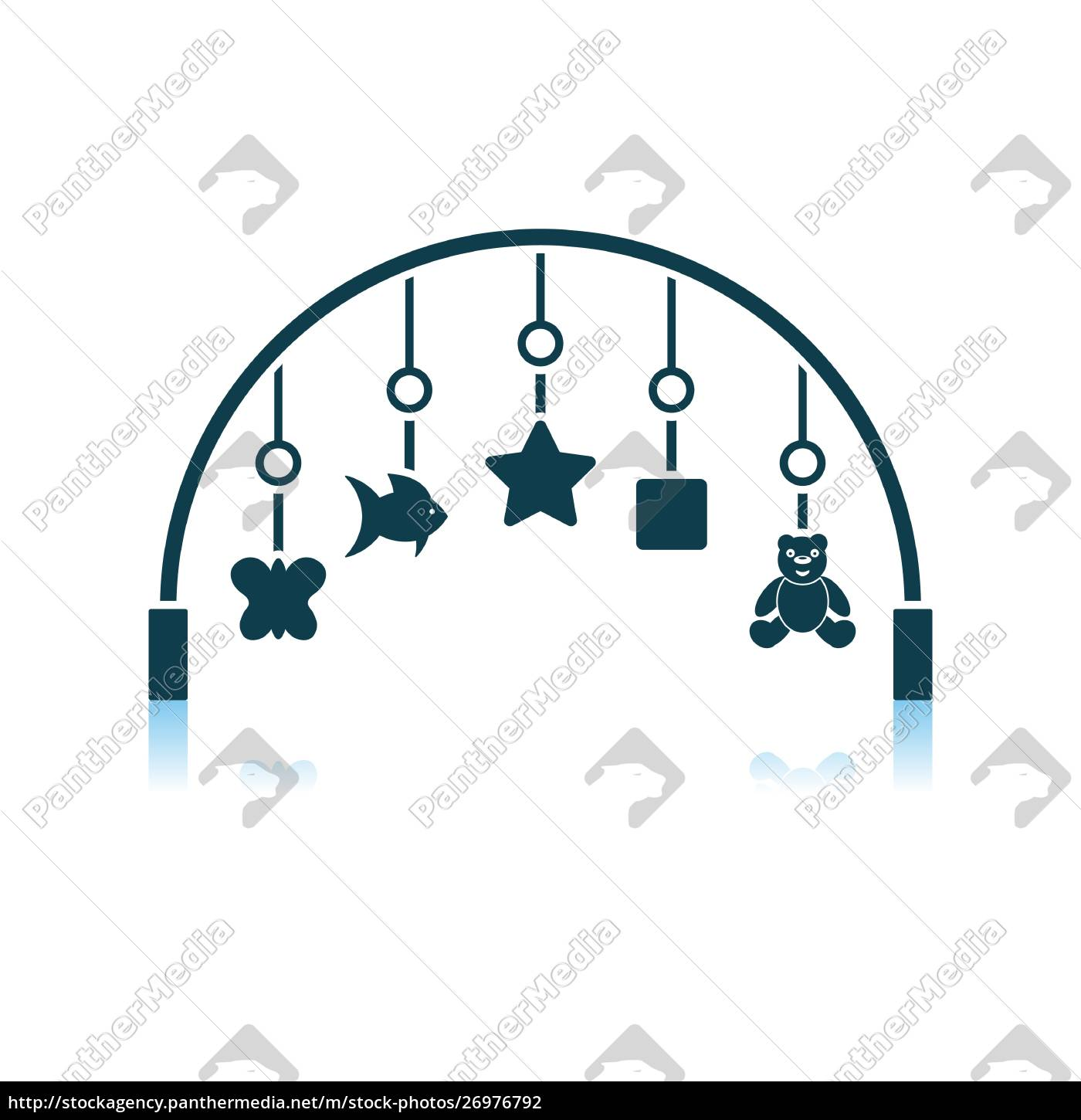 baby, arc, with, hanged, toys, icon - 26976792