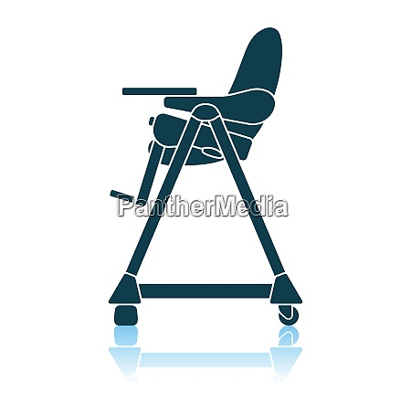 baby, high, chair, icon - 26976788