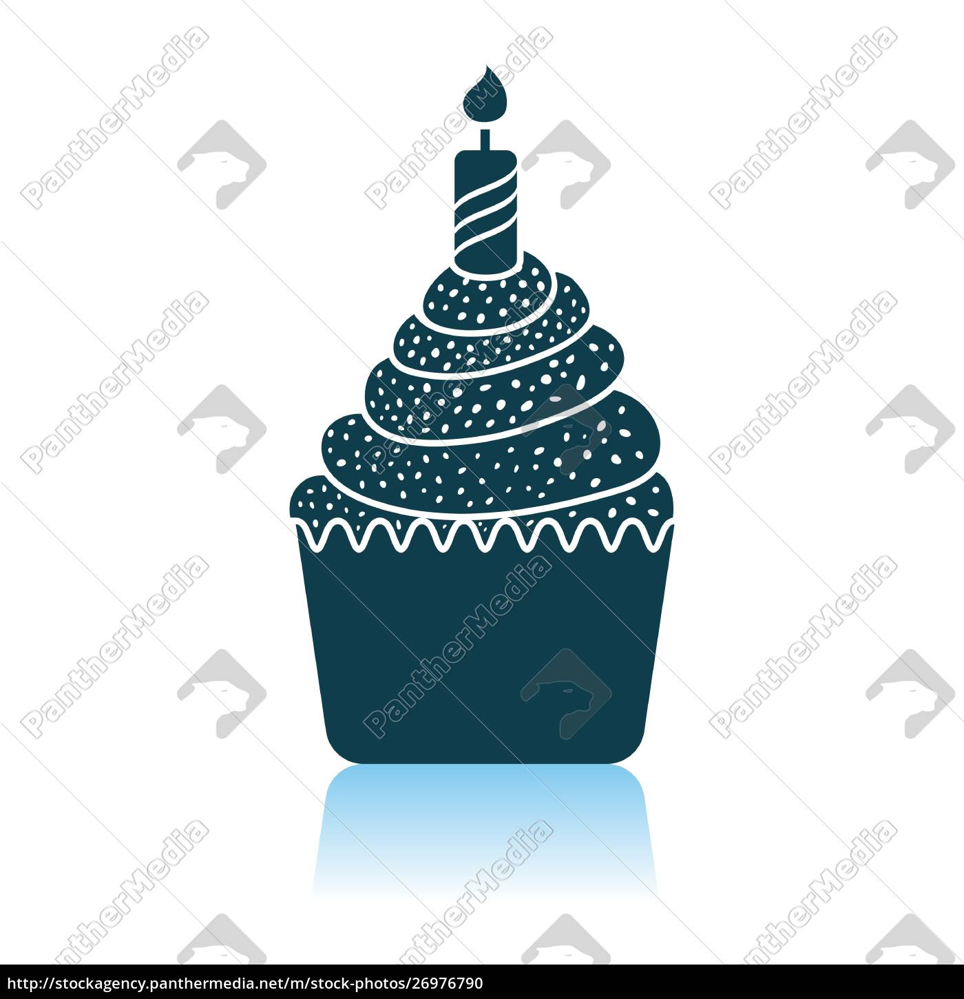 first, birthday, cake, icon - 26976790