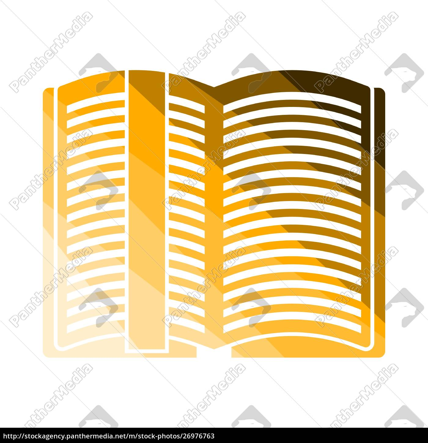 open, book, with, bookmark, icon - 26976763