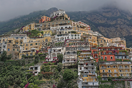 colourful positano