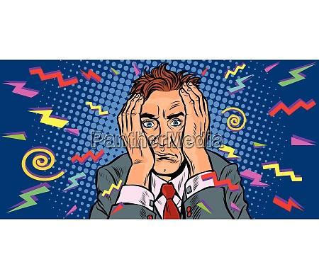 crazy man with a headache