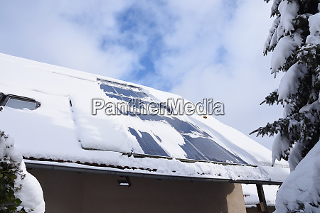 snow covered solar system snowcovered module
