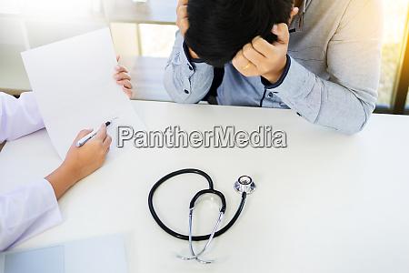 patient receiving bad news he is