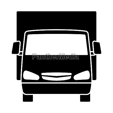 van truck icon front view