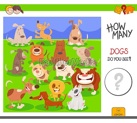 counting dogs activity worksheet task