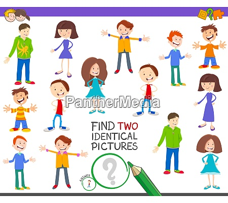 find two identical kids task for