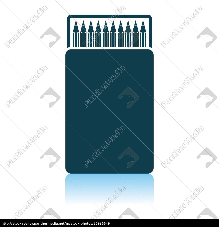 pencil, box, icon - 26986649