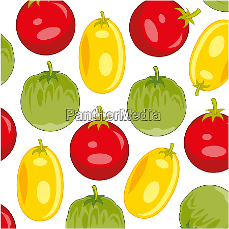 colorful decorative pattern from tomato varied