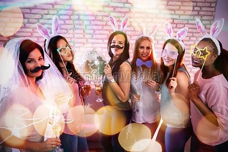 female friend enjoying bachelorette party