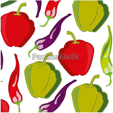 sort pepper pattern on white background