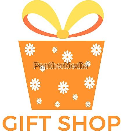 gift box vector logo design