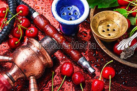 hookah with tobacco taste of cherry