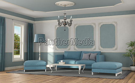 modern sofa in a room in