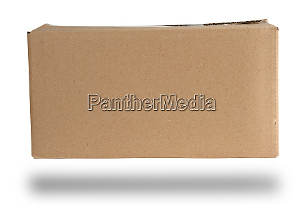 closed brown rectangular box of cardboard