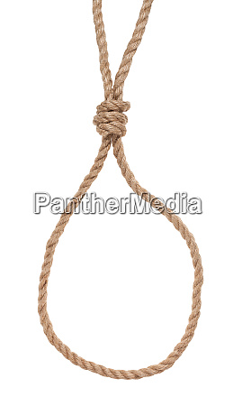 slip noose with gallows knot tied
