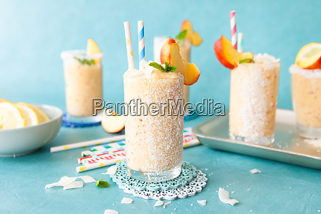 frozen cocktail with coconut